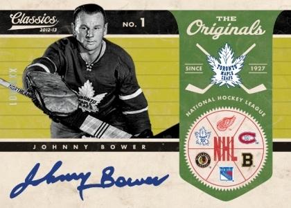2012-13 Panini Classic Signatures Hockey The Originals Johnny Bower