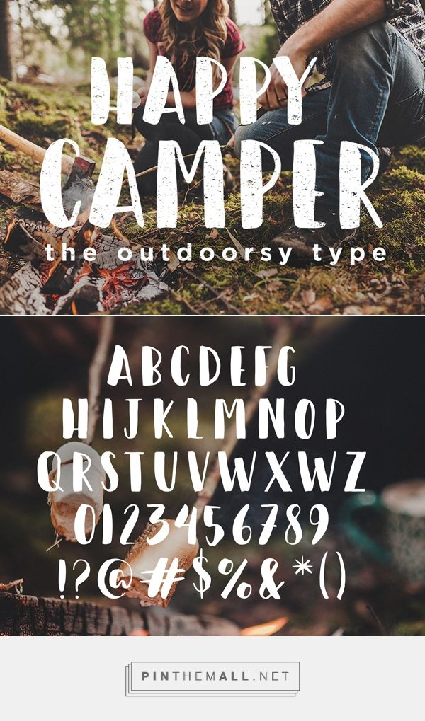 25 Free Hipster Fonts | Fonts | Graphic Design Junction Happy Camper Free Hipster Font - created via https://pinthemall.net