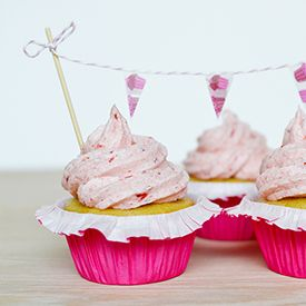A delicious strawberry frosting recipe made from pureed strawberries.