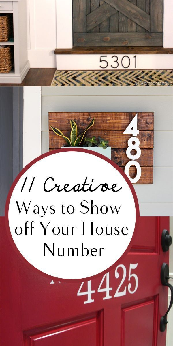11 Creative Ways To Show Off Your House Number Diy Diy Home