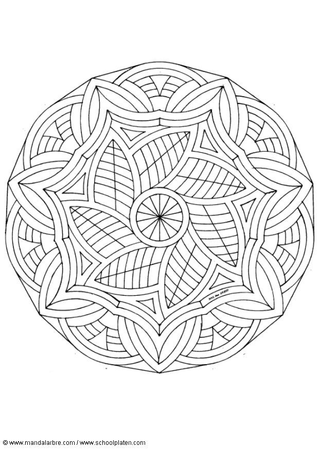 detailed mandala coloring sheets | Back to Coloring pages special mandala category