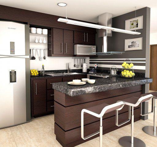 Cocina integral chocolate dise o de interiores pinterest for Integral diseno de interiores