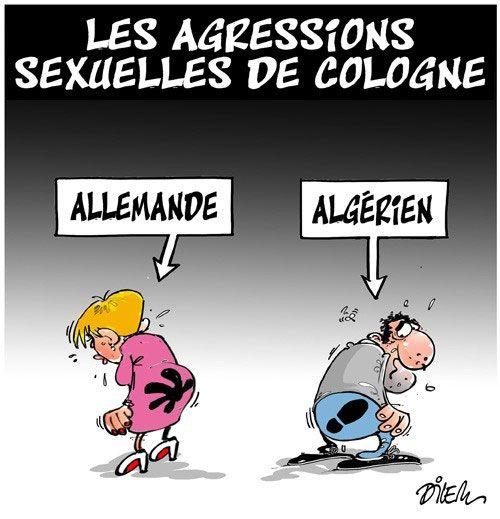 Dilem (2016-01-19) Les agressions sexuelles de Cologne, migrants en cause (?) | Presse-dz