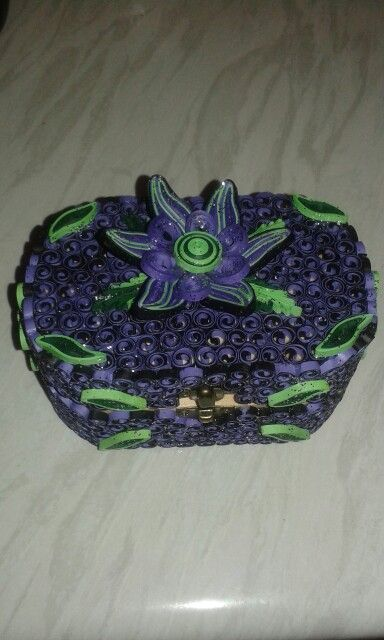 Purple box by quilling catalina