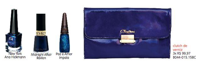 Azul é uma das principais cores da cartela de tons da coleção verão 2013 da Carmen Steffens. E continuando a série de sugestões para combinar esmaltes com