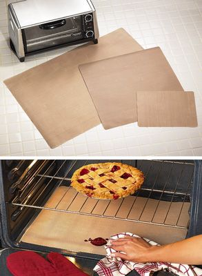 Set of 3 Kitchen Appliance Oven Liners. I get mine at Bed, Bath and Beyond. Best invention!