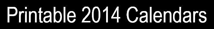 2014  -  Calendar  Printable