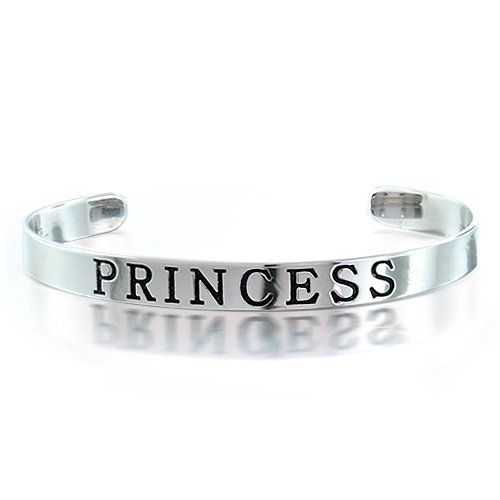 Bling Jewelry Childrens Sterling Silver Princess Bangle Girls Cuff Bracelet Bling Jewelry. $39.99. Weighs 5 grams. Engraved with PRINCESS. Fits 4.5 to 5 inch wrist. Made for girls. Sterling silver cuff bracelet