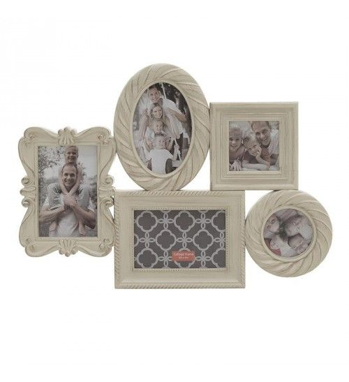 PL PHOTO FRAME W_5 SECTIONS IN CREME 48X2_5X34_5