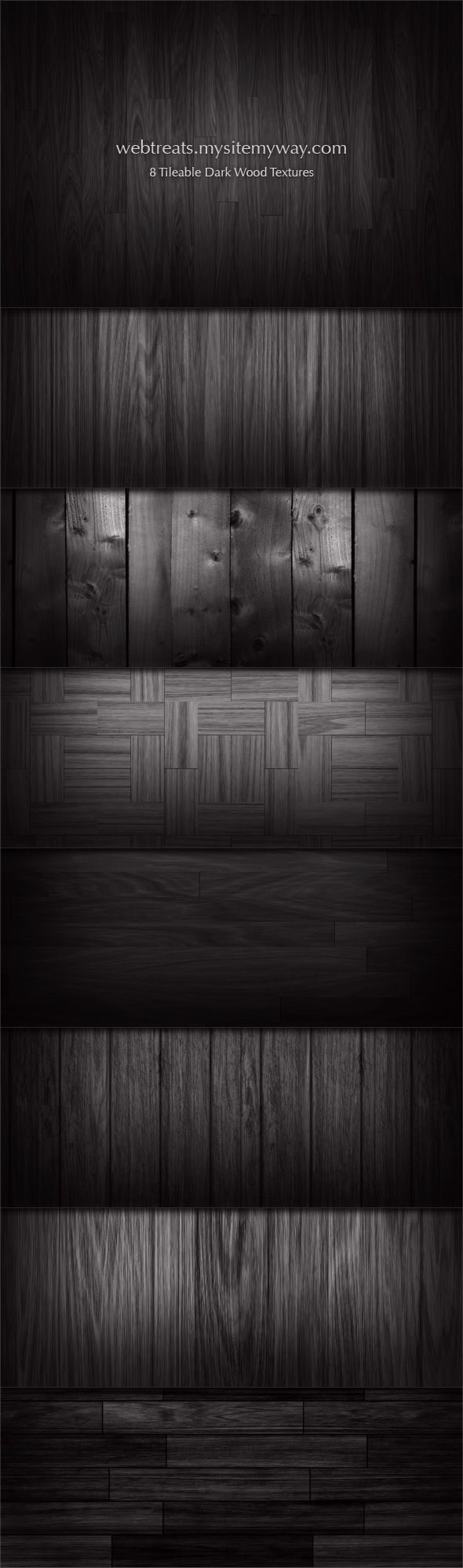 8 Tileable Dark Wood Textures by WebTreatsETC.deviantart.com on @deviantART