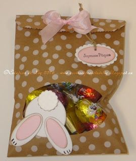 Cartes artisanales et autres projets artistiques de Liz: Des sacs à surprises pour Pâques