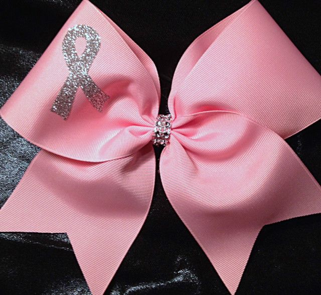 Cheer Bow ~ Breast Cancer Awareness ~ Charity ~ Team Bow - Boutiquebows