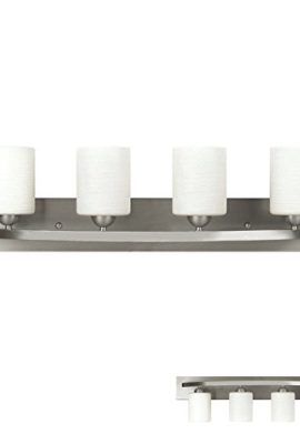 (4) 60 Watt max G9 Xenon Halogen Bulb (included) White Frosted Alabaster Glass Steel, glass and electrical components