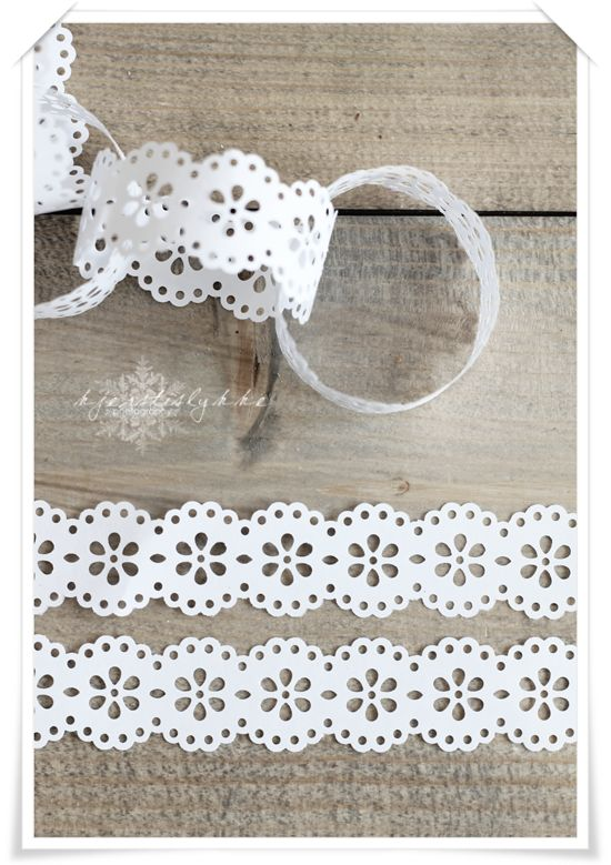 easy New Year's Eve Party decor idea: Lace Paper, Idea, Craft, Wedding, Christmas, Garlands, Paper Chains