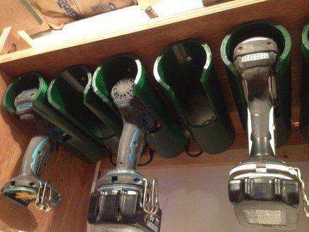 Drill Charging/Storage Station Garage Organization Smart idea!