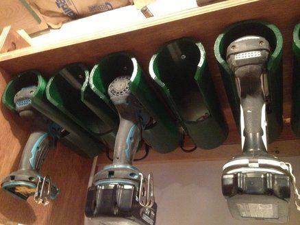 Drill Charging/Storage Station Garage Organization Smart idea!