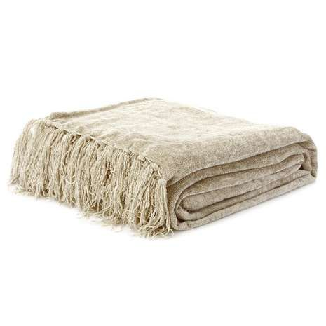 Chenille Throw | Dunelm... In black, to cover sofas