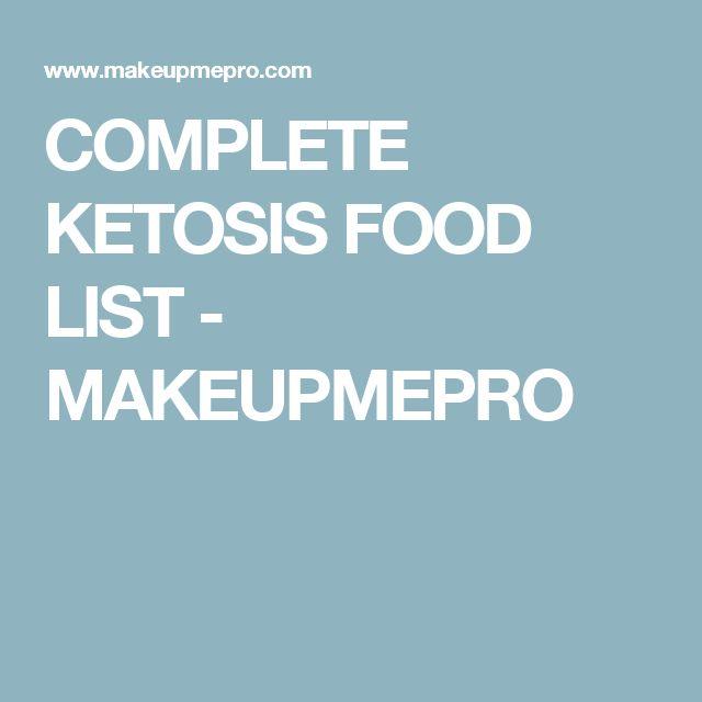 COMPLETE KETOSIS FOOD LIST - MAKEUPMEPRO