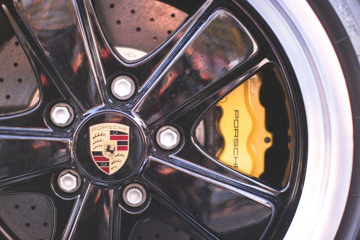 nice Porsche Wheel Rim Closeup  Photo