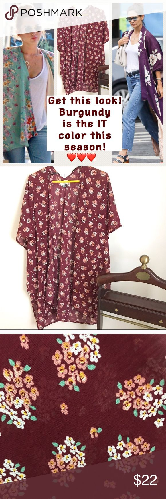 NWT Autumn Colors Outfit Topper Wear with jeans, shorts, or over skirts and dresses. Get the look! NO TRADES OR OFF POSH TRANSACTIONS. THANKS Von Maur Tops