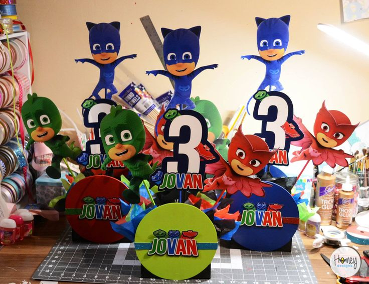 Pj Mask Party Decorations Impressive 348 Best Pj Mask Party Images On Pinterest  Birthdays Birthday Design Decoration