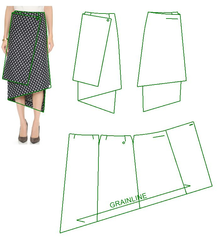 1000 ideas about wrap skirt patterns on skirt