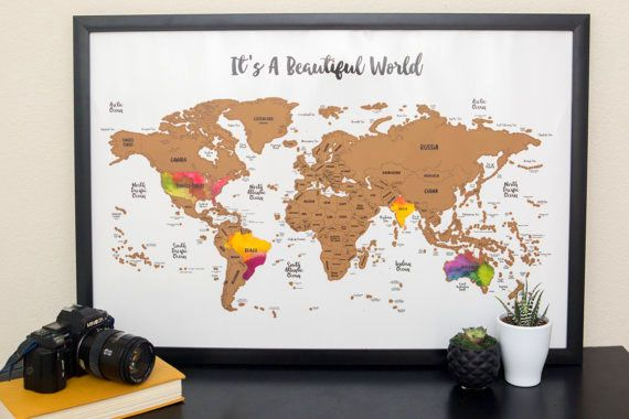Its A Beautiful World Scratch Map @seattlestravels