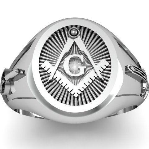 New Sterling Masonic Ring
