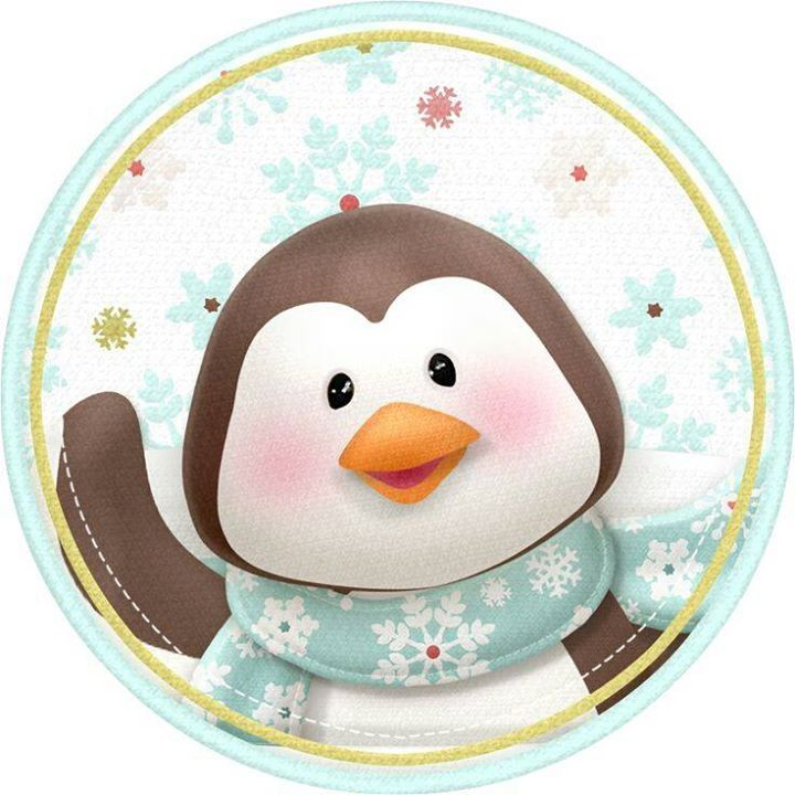 Lindo pingüino de navidad