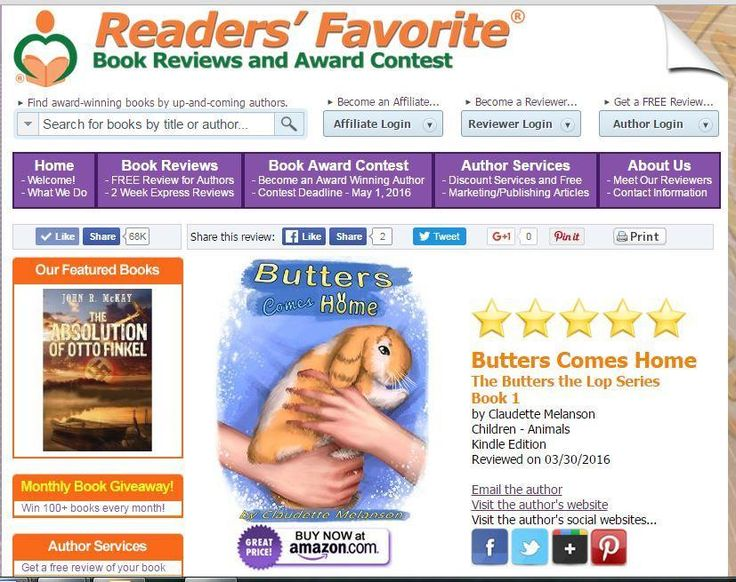 So proud of the 5⭐️ @ReadersFavorite Review for BCH So proud of my illustrator, Rachel Montreuil Order this heartwarming true story of a loving little Holland Lop for a Reduced Preorder Price #IARTG #ASMSG http://bit.ly/1RDSJOA