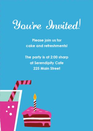 Party Invitations Templates Slice o' Cake http://www.do-it-yourself ...