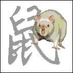 Chinese horoscoop: rat. Een typisch Rat-type is erg sociaal en extravert. Een persoon geboren in het jaar van de Rat is charmant, levendig en energiek. Hij of zij houdt er van om onder de mensen te zijn. Een typische rat is heel planmatig en intelligent zodat de eerste de beste kans direct gegrepen kan worden. Ze kunnen de meest onmogelijke doelen bereiken door het aannemen van unieke kansen. Deze mensen hebben een sterke wil, zijn ambitieus en erg toegewijd.