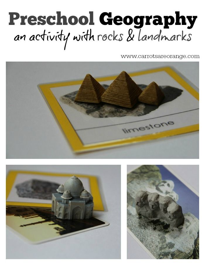 Preschool Geography Activity with Rocks (Free Printable Included in the post!)