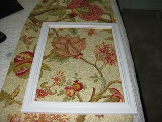 Frame fabric for beautiful, affordable wall art