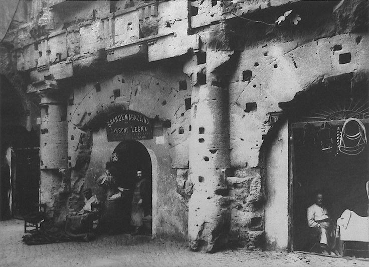 Rome, Teatro Marcello, 1890.