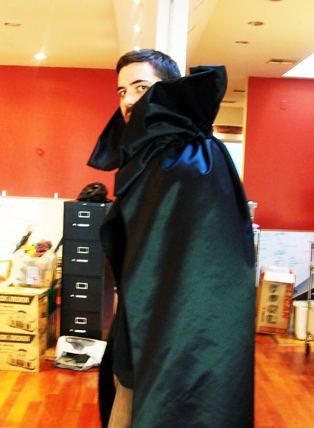Picture of Easy No-Sew Vampire Cape