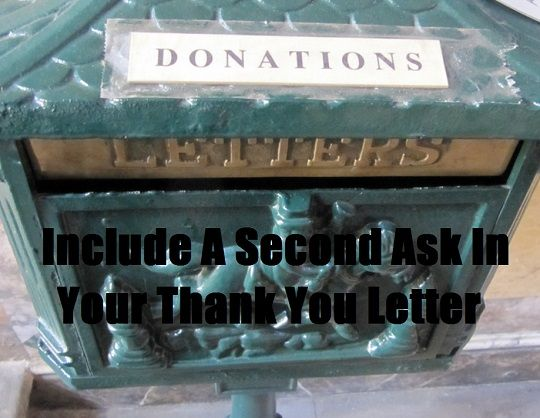 Donation Thank You Letter Second Ask Fundraising, Auction ideas - non profit thank you letter sample