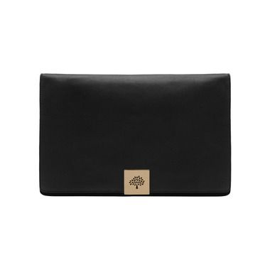 Mulberry - Campden Large Clutch in Black Soft Grain