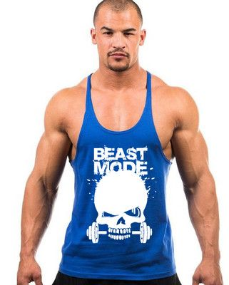 Promo New Skeleton head print Gym Singlets Mens Tank Tops Shirt Gym Bodybuilding Equipment Fitness Stringer Tank. Click visit to read descriptions