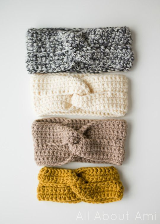 The Twisted Headband free crochet pattern