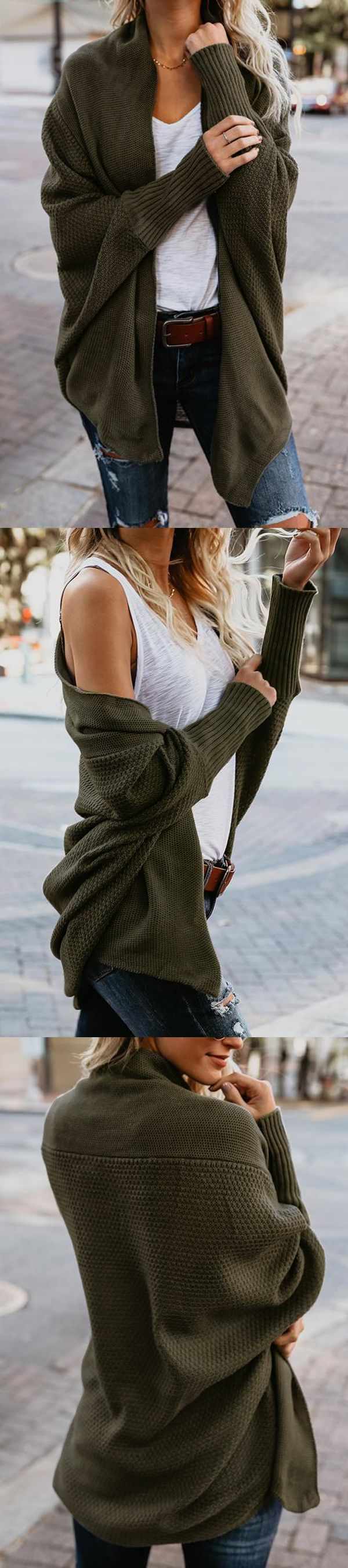 I like the oversized sweater look