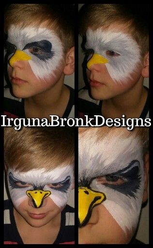 Sea eagle fast boys facepaint