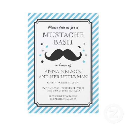 Clever baby shower concept for a boy Bet mustaches would