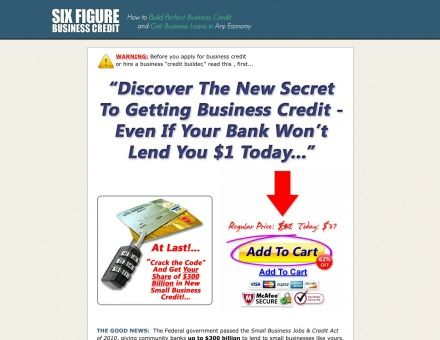 Six Figure Business Credit – 60% Commissions, High Conversions