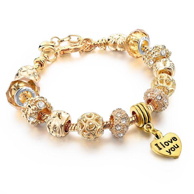 New Arrival Gold Charm Bracelets & Bangles Link Chain Bracelet For Women Personalized Jewelry Pulsera Sbr150328