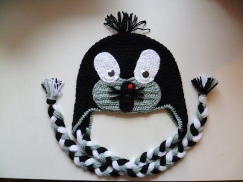 Maulwurfmütze häkeln - Tiermütze - Mütze - Maulwurf - crochet Beanie - O...