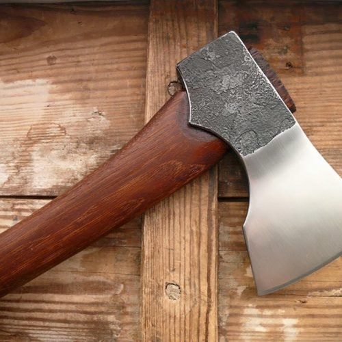 """The MASK """"Badlands"""" camp axe is the baddest bushcraft axe ever. Hand forged from our master craftsman in Poland. Made from the highest quality materials."""