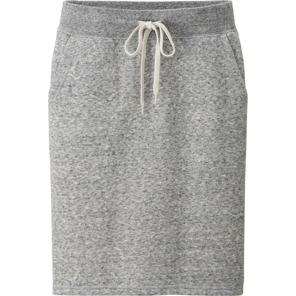 UNIQLO Women Sweat Skirt ($9.90) ❤ liked on Polyvore featuring skirts, bottoms, green skirt, knee high skirts, green knee length skirt, knee length skirts and uniqlo
