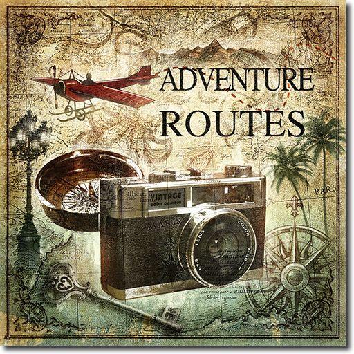 Cuadro Cámara de Fotos Vintage - Adventure Routes