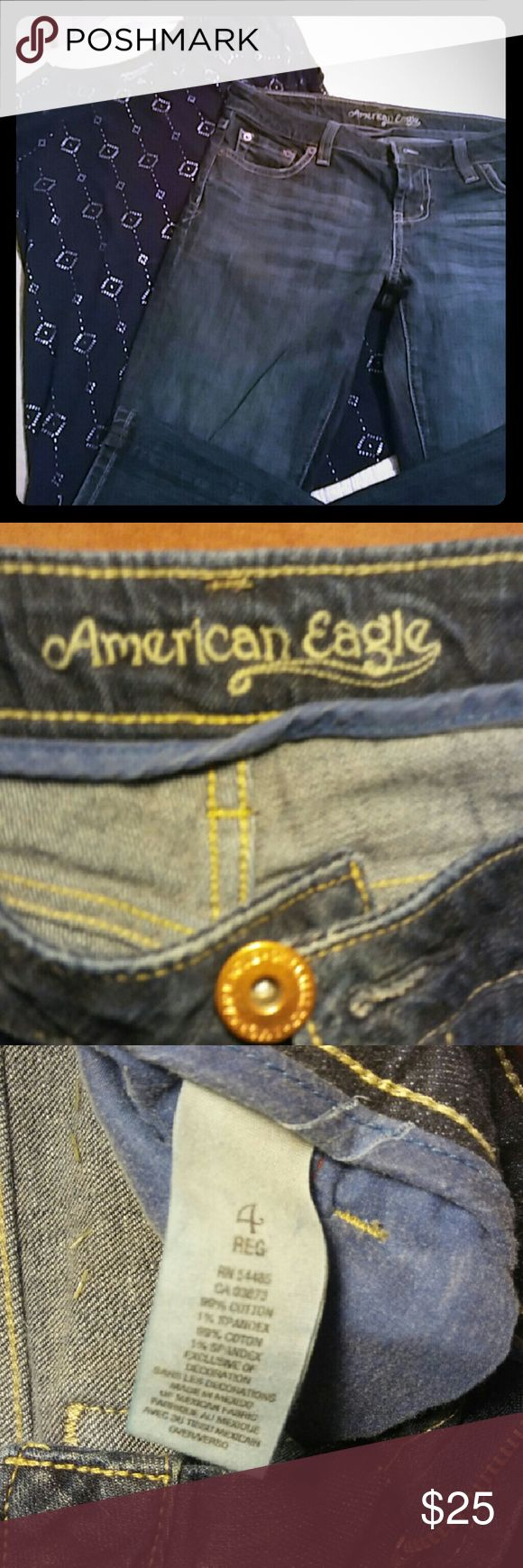 American Eagle Jeans American Eagle Hipster Jeans Size 4 Like new No holes, rips or tears American Eagle Outfitters Jeans